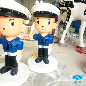 卡通警察雕塑